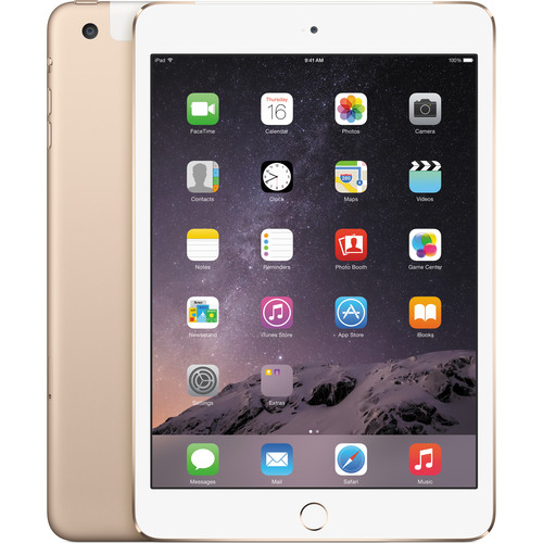 الصورة: iPad mini 3 wifi + 4G LTE Gold