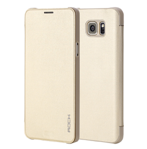 الصورة: ROCK Flip Slim Case for Samsung Galaxy Note 5 Gold