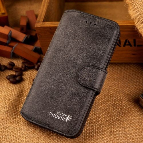 الصورة: Phoenix Leather Case for iPhone 6s / 6 4.7-inch - Black