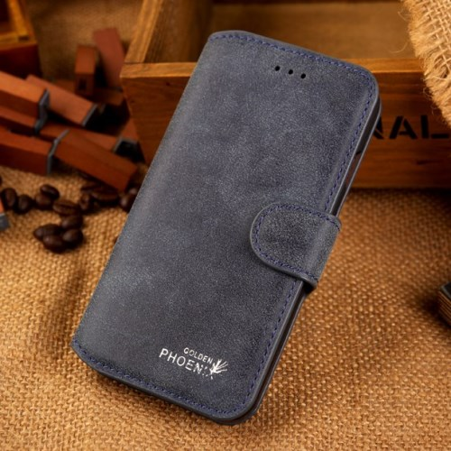 الصورة: Phoenix Leather Case for iPhone 6s / 6 4.7-inch - Blue