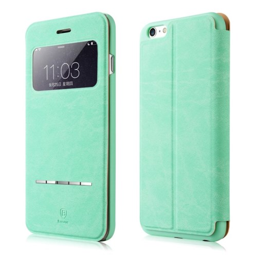 Picture of BASEUS Terse Lesther Case for iPhone 6 Plus / 6s Plus 5.5 Inch - Cyan