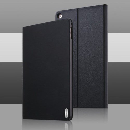 الصورة: USAMS Smart Leather Case for iPad Air 2 & 1 - Black