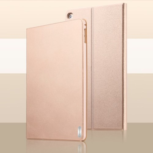 الصورة: USAMS Smart Leather Case for iPad Air 2 & 1 - Gold
