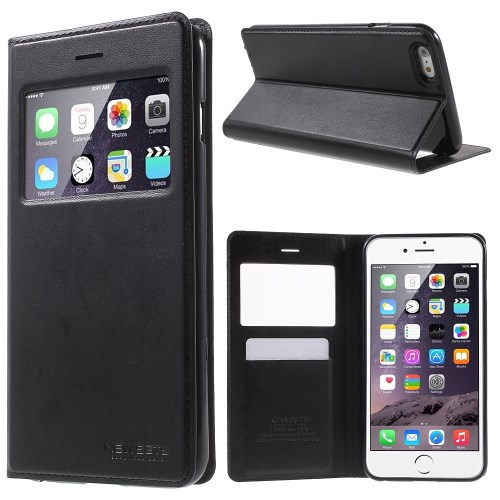 الصورة: MERCURY Leather Cover for iPhone 6s Plus / 6 Plus Plus 5.5 inch - Black