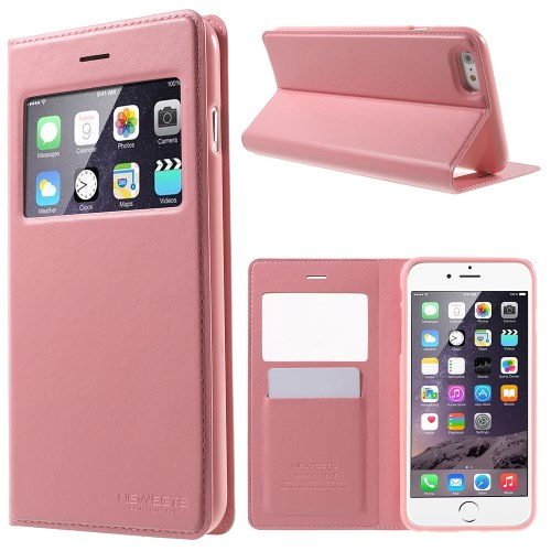 الصورة: MERCURY Leather Cover for iPhone 6s Plus / 6 Plus Plus 5.5 inch - Pink