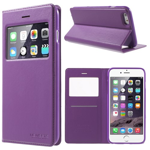 الصورة: MERCURY Leather Cover for iPhone 6s Plus / 6 Plus Plus 5.5 inch - Purple