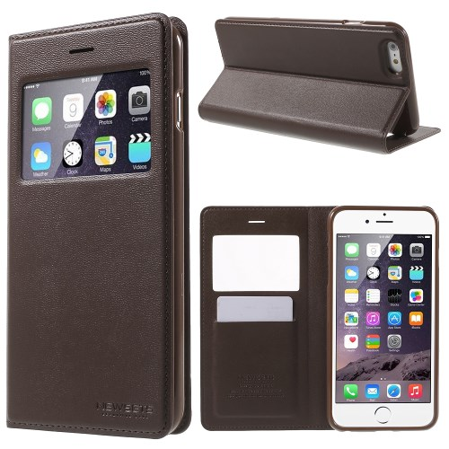 الصورة: MERCURY Leather Cover for iPhone 6s Plus / 6 Plus Plus 5.5 inch - Coffee