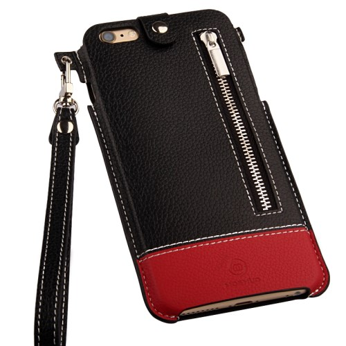 الصورة: MOSHUO Genuine Leather Case Pouch for iPhone 6 Plus / 6s Plus 5.5 inch - Red
