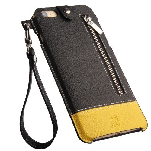 الصورة: MOSHUO Genuine Leather Case Pouch for iPhone 6 Plus / 6s Plus 5.5 inch - Yellow