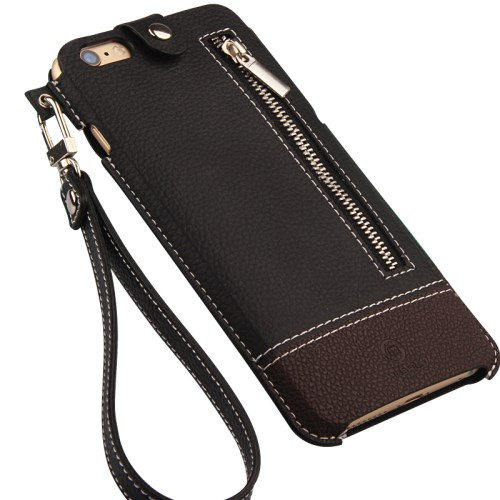 الصورة: MOSHUO Genuine Leather Case Pouch for iPhone 6 Plus / 6s Plus 5.5 inch - Brown