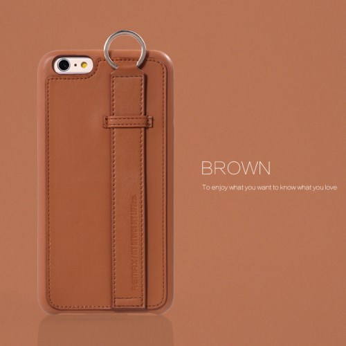 الصورة: REMAX Chuangxiang with Ring Buckle for iPhone 6s 6 Plus 5.5 inch - Brown