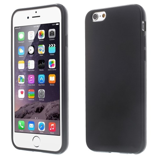 Picture of Solid Color Glossy TPU Gel Case for iphone 6 / 6s - Black