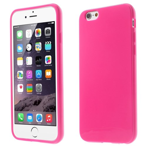 Picture of Solid Color Glossy TPU Gel Cover for iphone 6 / 6s - Rose