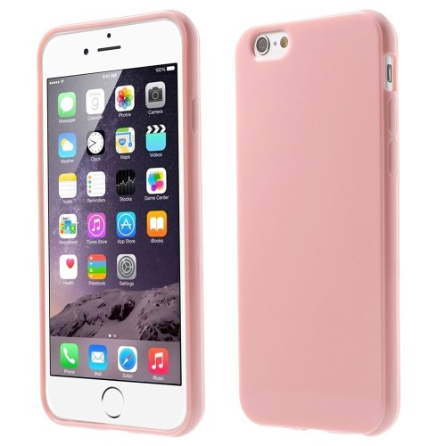 الصورة: Solid Color Glossy TPU Gel Skin Shell for iphone 6 / 6s - Pink