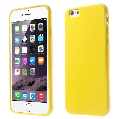 الصورة: Solid Color Glossy TPU Gel Skin Case for iphone 6 / 6s - Yellow
