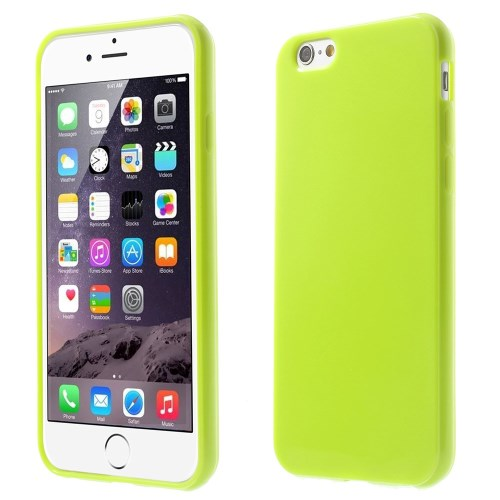 الصورة: Solid Color Glossy TPU Gel Skin Cover for iphone 6 / 6s - Green
