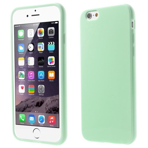 الصورة: Solid Color Glossy TPU Gel Case for iphone 6 / 6s - Cyan