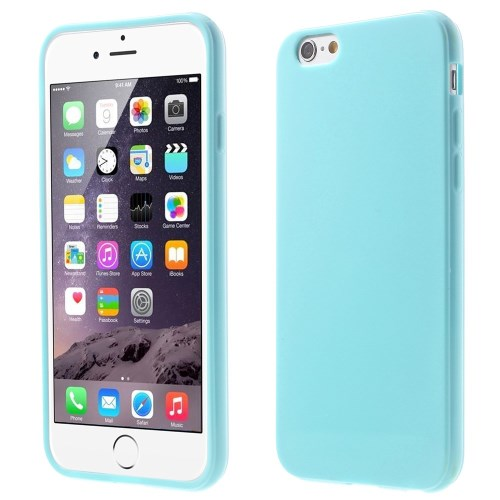Picture of Solid Color Glossy TPU Gel Phone Shell for iphone 6 / 6s - Baby Blue