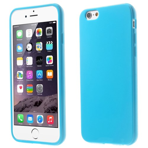 Picture of Solid Color Glossy TPU Gel Phone Shell for iphone 6 / 6s - Dark Blue