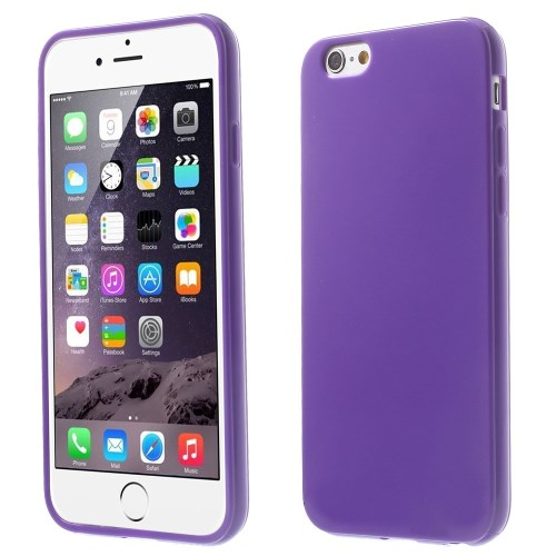 Picture of Solid Color Glossy TPU Gel Phone Case for iphone 6 / 6s - Dark Purple