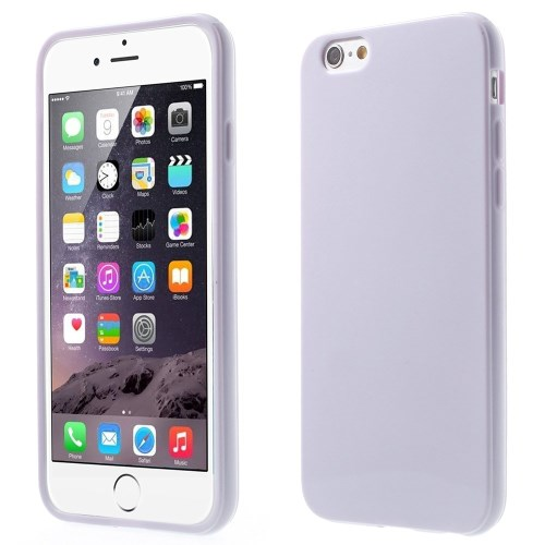 Picture of Solid Color Glossy TPU Gel Phone Case for iphone 6 / 6s - Light Purple