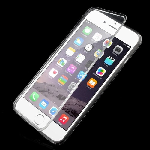 الصورة: TPU Folio Flip Glossy Case for iPhone 6 Plus - Transparent