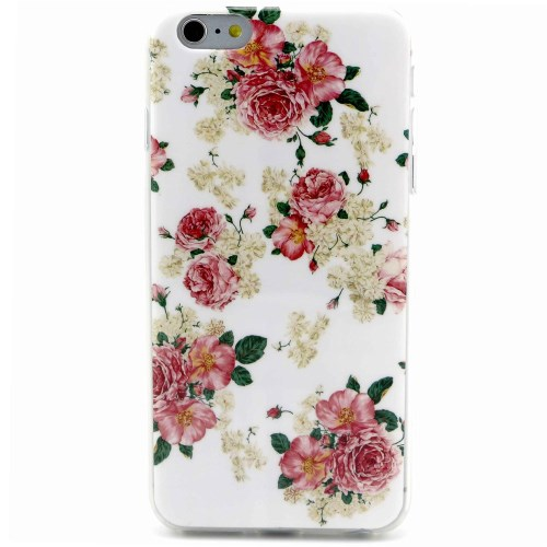 الصورة: Bloomy Roses TPU Cover Case for iPhone 6 Plus / 6s Plus