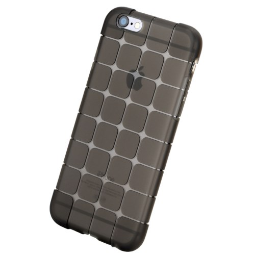 Picture of ROCK Magic Series Cube Pattern Transparent TPU Protective Case for iPhone 6 Plus 5.5 inch - Black