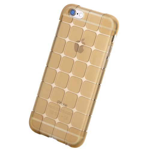 الصورة: ROCK Magic Series Cube Pattern Transparent TPU Protective Case for iPhone 6 Plus 5.5 inch - Gold